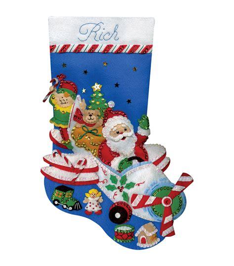 felt applique kits flying santa felt applique kit 18 quot joann