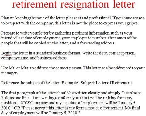 Retirement Resignation Letter Examples Mediafoxstudio Com