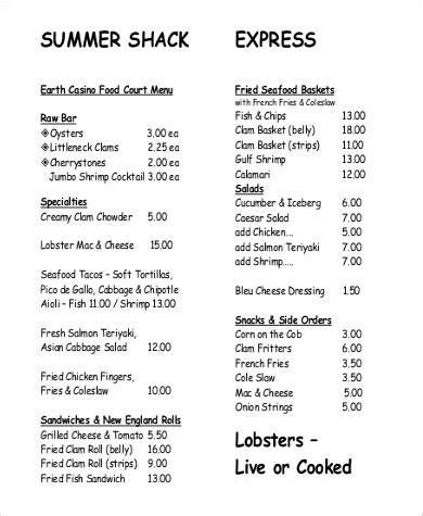 cuisine menu list food list sle grocery list template sle sle