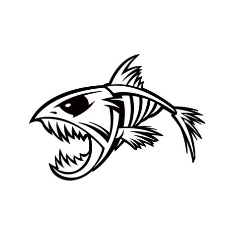 Library of skeleton bass fish svg black and white download ...