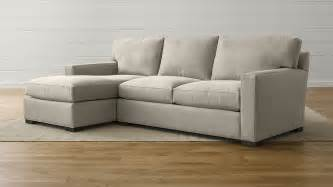 axis ii grey fabric sectional sofa crate and barrel