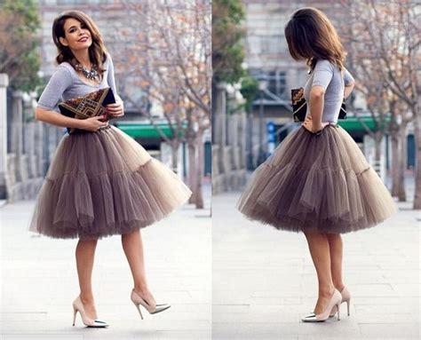 Spring Skirt Knee Length Pretty Women Girl Tulle Adult