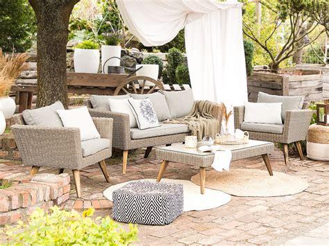 garden conversation set rattan brown with grey vittoria xl