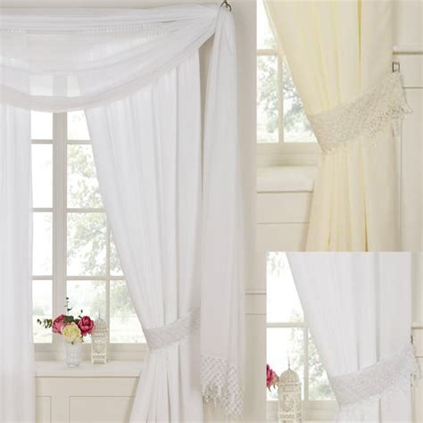 Nursery Curtain Poles by Daisy Rose Lined Voile Curtains Pencil Pleat Curtains