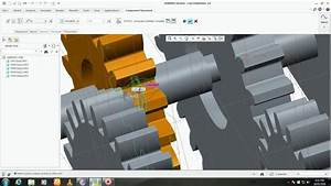 Compound Gear Mechanism By Assembly In Ptc Creo 2 0
