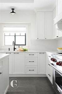 25 best gray tile floors ideas on pinterest With kitchen colors with white cabinets with bronze fish wall art