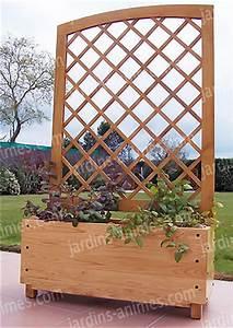 Bac En Bois Pour Plantes : bac jardiniere claustra arrondie en chataigner mobilier ~ Dailycaller-alerts.com Idées de Décoration