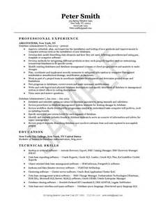 resume for oracle dba manager oracle database administrator resume sle