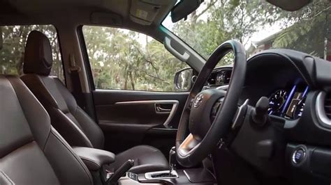 toyota fortuner  interior youtube