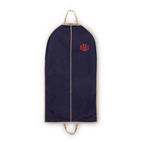 monogrammed canvas garment bags  colors