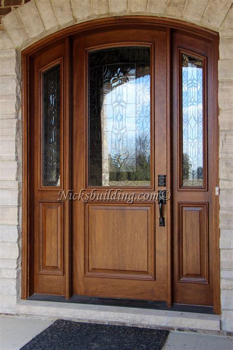 Mahogany Arched Doors  Nicksbuildingcom
