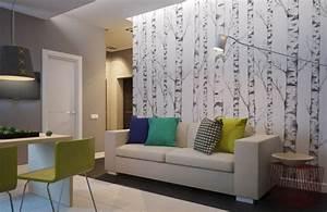 Tapeten Kombinationen Wohnzimmer : zimmer farblich gestalten tapete und farbe kombinieren ~ A.2002-acura-tl-radio.info Haus und Dekorationen