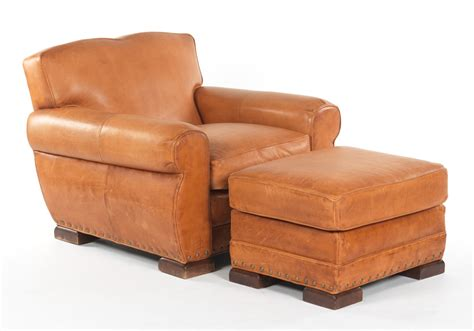 rustic leather easy chair and ottoman william alan 03 27