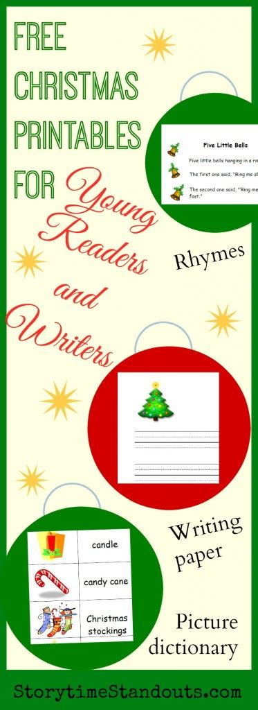 theme printables for preschool and kindergarten 478   Free Christmas Printables for Young Readers and Writers 373x1024