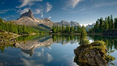 Mountain Landscape Lake Nature Rock Trees Water