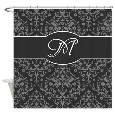 damask shower curtain monogram damask shower curtain by thelostwoods