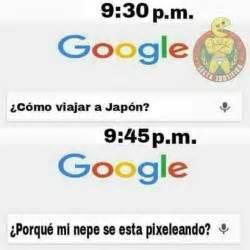 Memes De Google - dopl3r com memes google ic 243 mo viajar a jap 243 n google porqu 233 mi nepe se esta pixeleando
