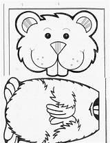 Groundhog Puppet Kindergarten Bag Paper Template Crafts Coloring Puppets Printables Activities February Ground Hog Preschool Craft Google Sunday Pre Arts sketch template