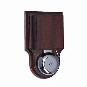 London Striker Chrome Doorbell  Buzzer  Solid Mahogany