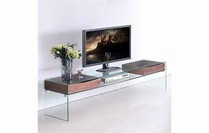 Meuble Tv Arrondi : meuble banc tv en verre et rangements en bois glasswoody with meuble tv arrondi bois ~ Teatrodelosmanantiales.com Idées de Décoration