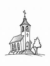 Church Coloring Printable Mycoloring sketch template