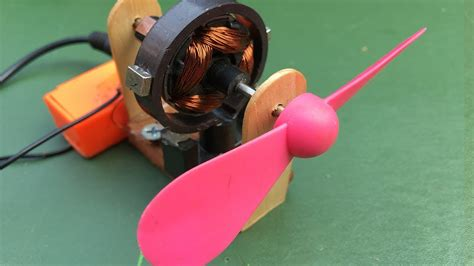 how to make mini universal dc motor with fan amazing science school project