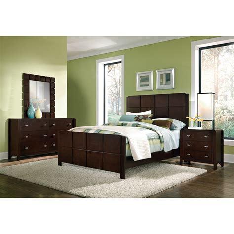 Mosaic 6piece Queen Bedroom Set  Dark Brown  Value City