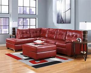 soho contemporary red leather sectional sofa w left chaise With red leather sectional sofa contemporary