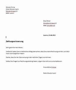Rechnung Zahlungsfrist : mahnung vorlage schweiz muster ~ Themetempest.com Abrechnung