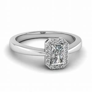 delicate radiant cut halo diamond engagement ring in 14k With radiant cut diamond wedding rings