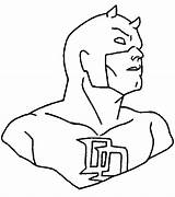 Daredevil Coloring Superheroes Pages Printable Kb sketch template