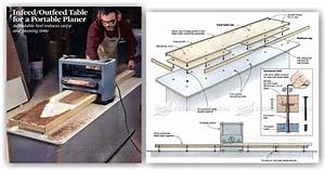 Portable Planer Infeed/Outfeed Table • WoodArchivist