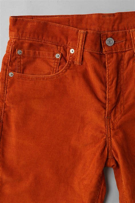 lyst urban outfitters levis  corduroy pant  orange