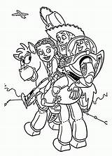 Coloring Toy Story Pages Jessie sketch template