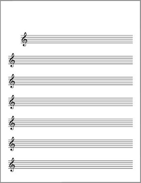 treble clef staff template blank sheet music lead sheet treble clef