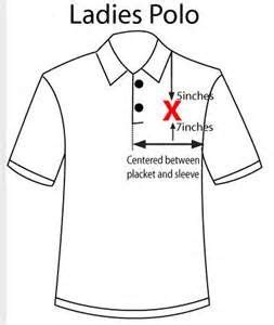embroidery placement  polo shirts att yahoo image