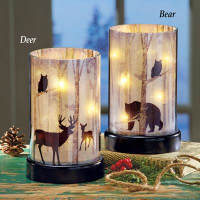 northwoods lighted candle hurricane  collections