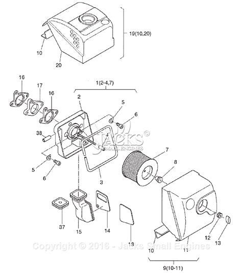 robin subaru rgd5000h parts diagram for air filter