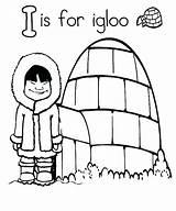 Igloo Coloring Eskimo Drawing Printable Clipartmag Template Getdrawings Getcolorings sketch template