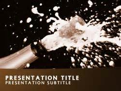 Newsletter Templates Powerpoint Royalty Free Champagne Powerpoint Template In Orange