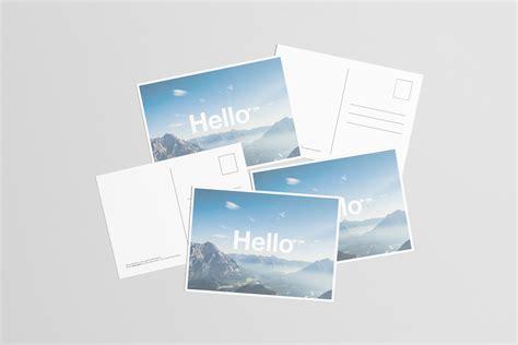 postcard template a4 a6 flyer postcard mock up on behance
