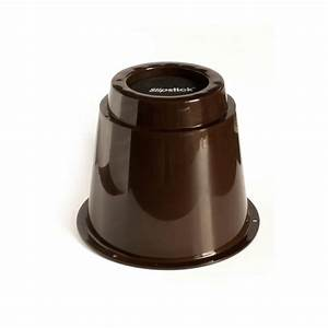 shepherd 1 1 2 in brown smooth rubber furniture cups 4 With furniture risers home depot