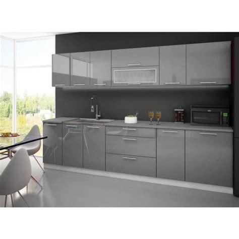 meuble de cuisine aubergine cuisine complete 3m grise avec plan de travail achat
