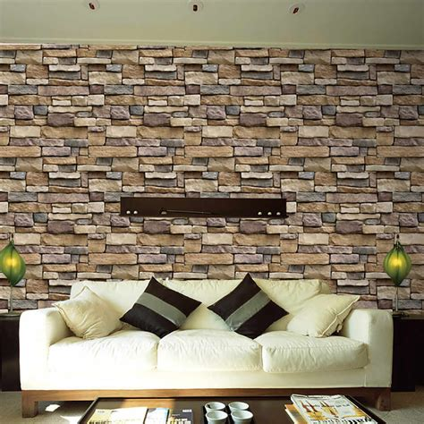 detail feedback questions about 3d wall paper brick stone rustic effect self adhesive wall