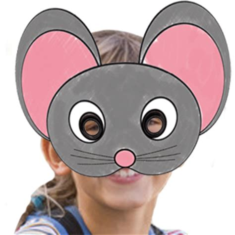masque rituel à tête de fils des histoires masque de souris à colorier tête à modeler