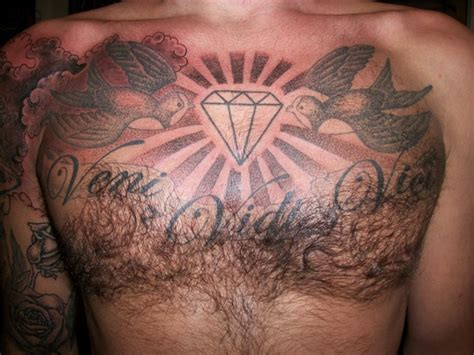 unique diamond tattoo design