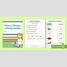 Phase 3 Phonics Activity Booklet  Reading, Letters And Sounds, Digraphs