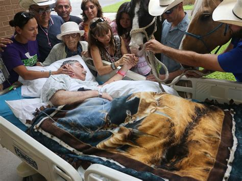 sick veteran  farewell   beloved horses