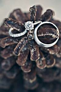 35 pinecones wedding ideas for your winter wedding With wedding ring holder ideas