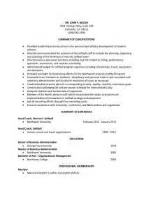 resume for coaching baseball baseball coaching resume sales coach lewesmr